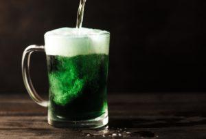 Green Irish beer